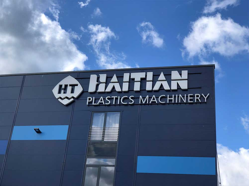 Leuchtschrift - Haitan Plastics Machinery - Werbepylon.de