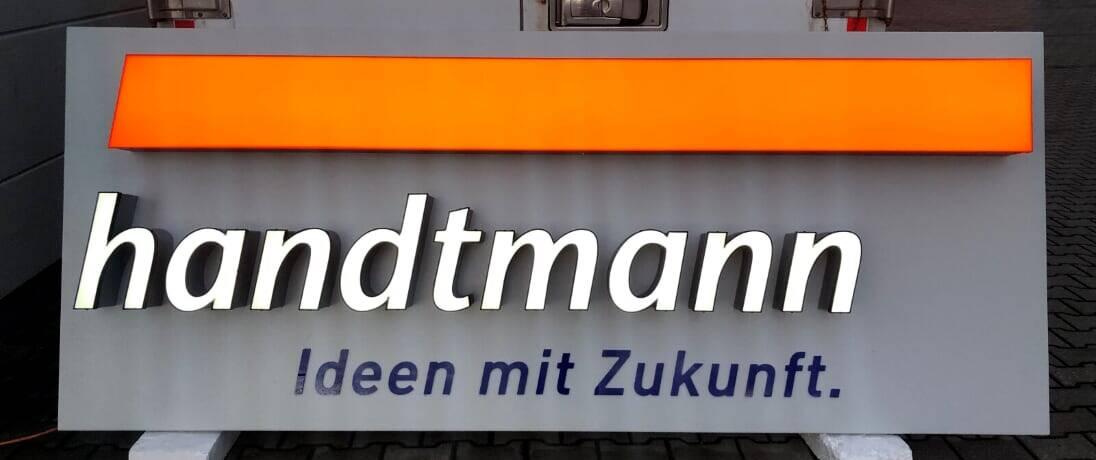LED Vollacrylschrift - Handtmann - werbepylon.de