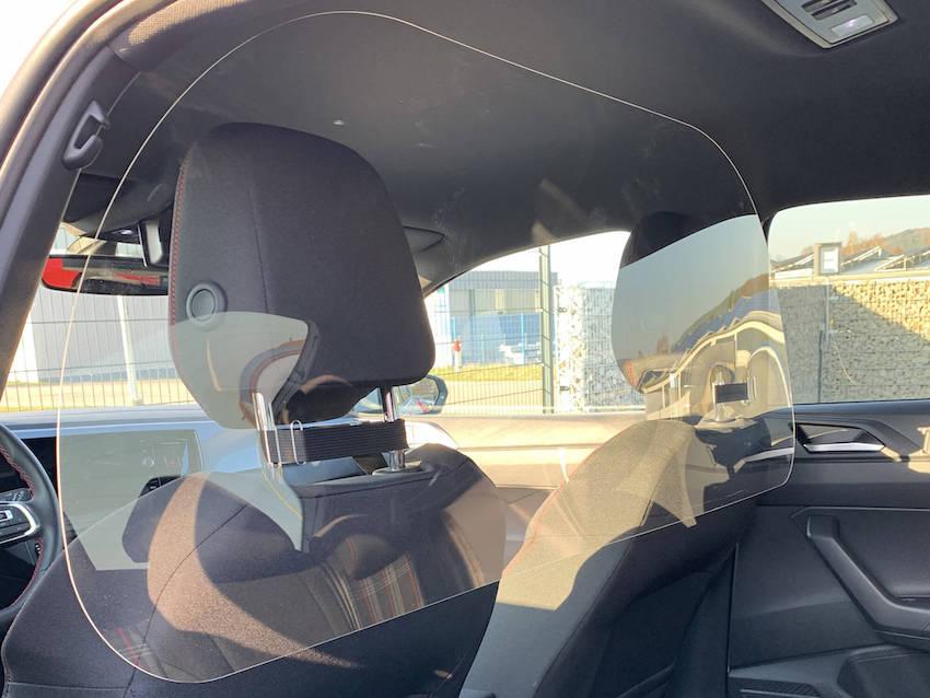 Taxi Plexiglas Schutzwand