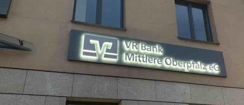 Lichtwerbung Bank VR